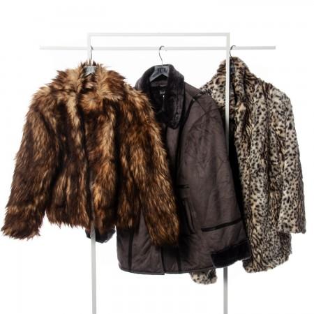 Faux Sheepskin Coat Mix...